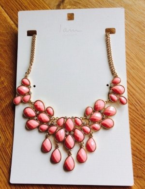 I am Statement ketting roze-goud Oranje