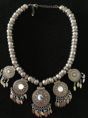Statement Kette Silber Türkis neu groß
