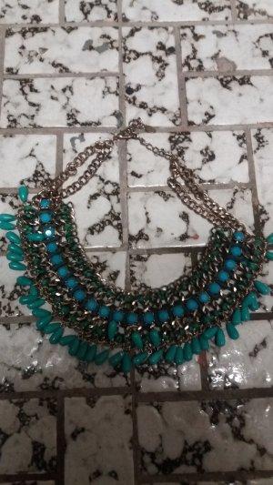 Zara Collar estilo collier amarillo pálido-azul claro