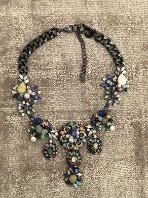 Zara Collier incrusté de pierres argenté-gris
