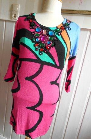 Jersey largo multicolor tejido mezclado
