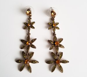 Statement Earrings gold-colored-dark orange