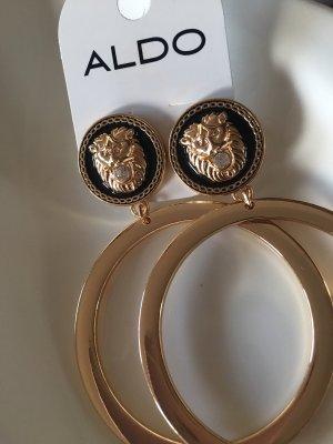 Aldo Statement Earrings gold-colored-black