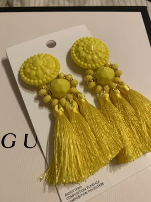 H&M Statement Earrings yellow