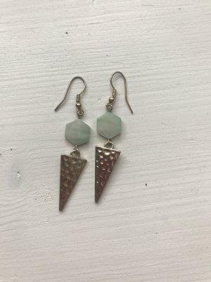 Statement Earrings sand brown-sage green