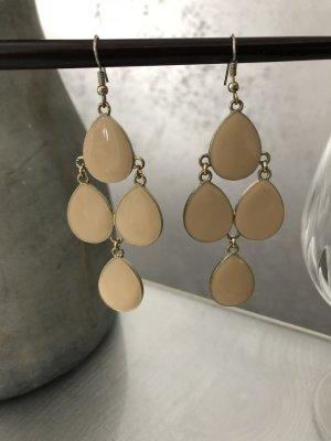 Statement Ohrringe beige/nude Gold - modern