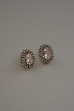 Statement Ohrstecker Ohrringe Rosé Silber elegant