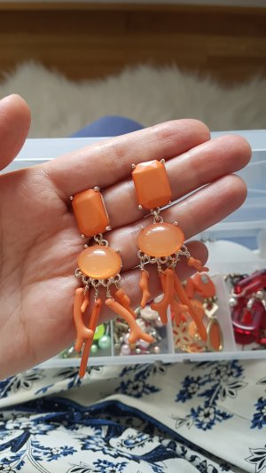 statement ohrstecker orange neu