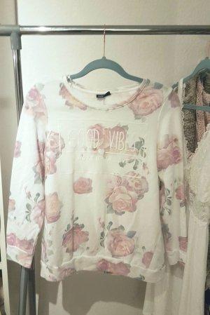 Statement Pullover Sweater mit rosen Yoga