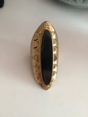 Statement Ring Gold schwarz