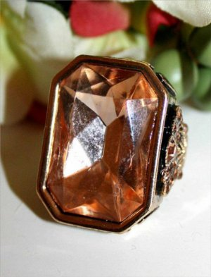 Statement Ring gr.18 Rosé Orange Gold
