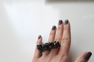 Statement ring  Grau Doppelring