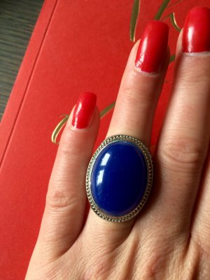 Statement Ring in Kobaltblau