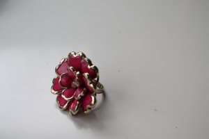 Statement Ring, XL-Blume Pink