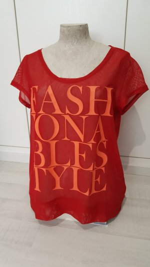 Statement-Shirt in angesagtem Rot
