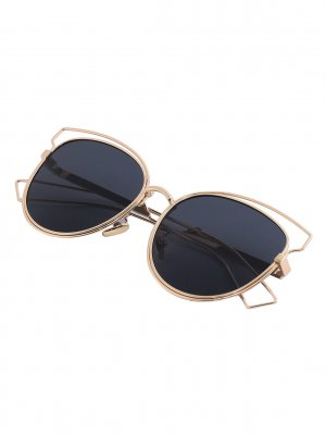 Statement Sonnenbrille Blogger Style Schwarz Gold