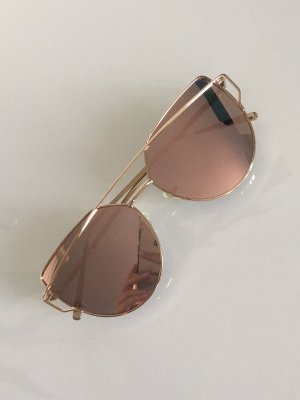 Statement Sonnenbrille Cat Eye rosé gold verspiegelt
