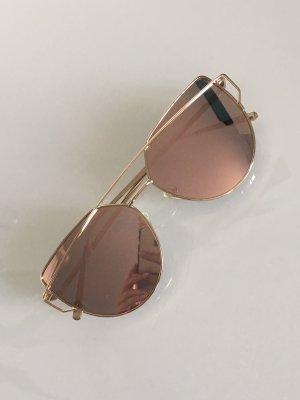 Statement Sonnenbrille Cat Eye rosé gold verspiegelt