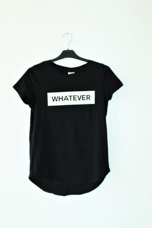 "Statement T-shirt schwarz ""whatever"" 100% Biobaumwolle"