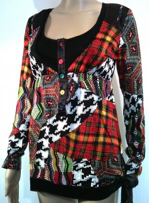 Empire Waist Shirt multicolored cotton