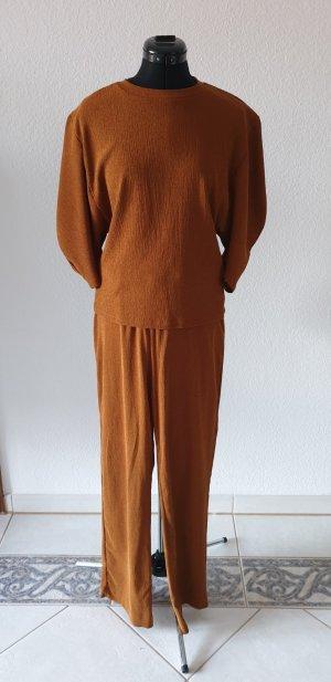 Zara Trafaluc Twin set in jersey color cammello