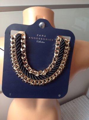Zara Collier Necklace dark brown-gold-colored