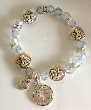 Bracelet gris clair verre