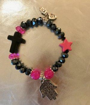 Bijoux de bras rose-taupe verre