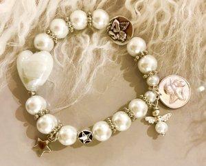 Bracelet blanc verre