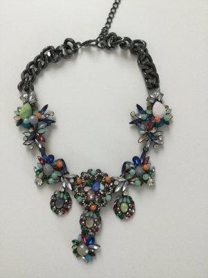 Zara Collier incrusté de pierres multicolore