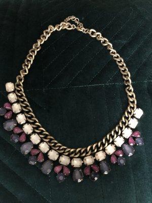 Cadena de cuentas violeta grisáceo-violeta