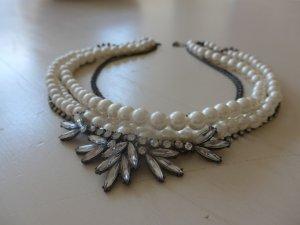 Statementkette aus Perlen und Strass von Esprit