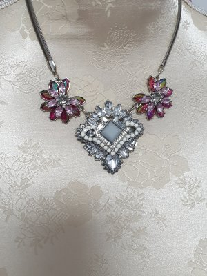 Bijou Brigitte Ketting zilver-roze