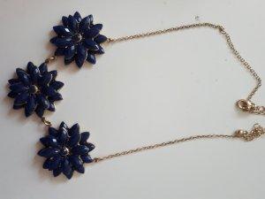 H&M Statement Necklace gold-colored-dark blue