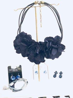 Collier Necklace dark blue-blue