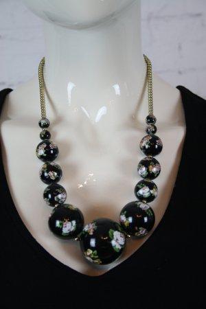 Statementkette Blumen H&M Mega Perlen Blogger Granny Style