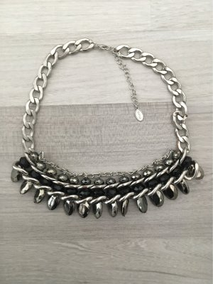 Opia Statement Necklace silver-colored-black