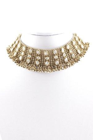 Cadena de cuentas color oro estilo extravagante
