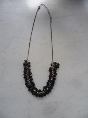 Statementkette mit schwarzen Perlen von H&M, Blogger, Hipster, Boho