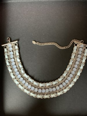 Statement Necklace silver-colored-azure