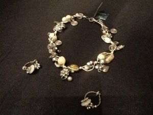 Necklace silver-colored-white