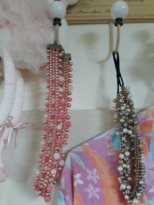 Statementkette Rosa Coral Hallhuber & Perlenkette