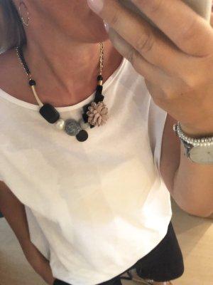 Statementkette rose schwarz grau Halskette Schmuck