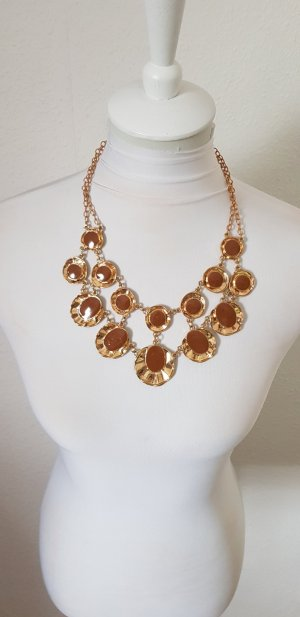 Statement Necklace gold-colored-grey brown
