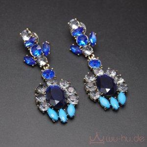 Statement Earrings blue-neon blue