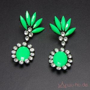Statement Earrings black-forest green