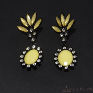 Statement Earrings black-yellow