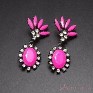 Statement Earrings violet-black