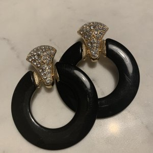 Asos Statement Earrings black-gold-colored synthetic material