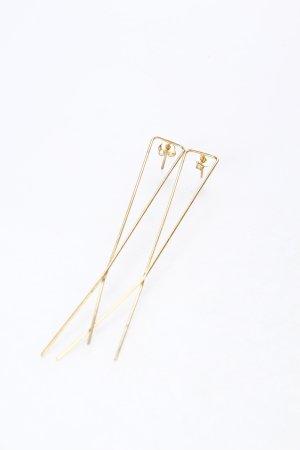 Statementohrringe goldfarben minimalistischer Stil